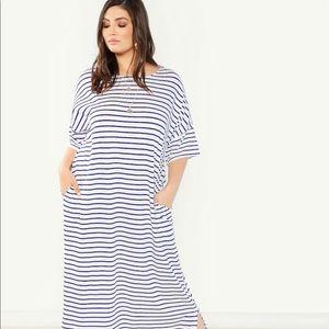 Dresses & Skirts - New Stripe caftan maxi dress 2x-4x Tall + pockets